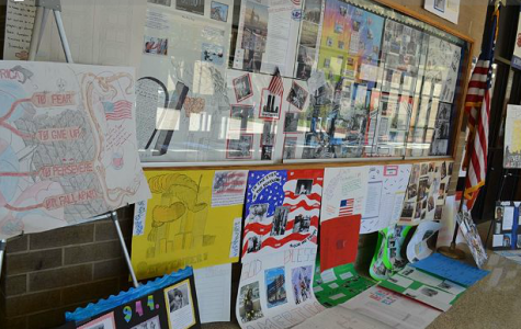 ROTC created posters to commemorate the lives 9/11 victims.