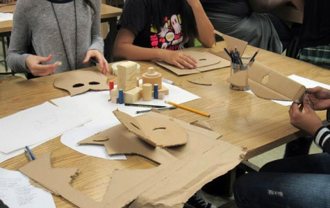 Art Club Creates Halloween Masks