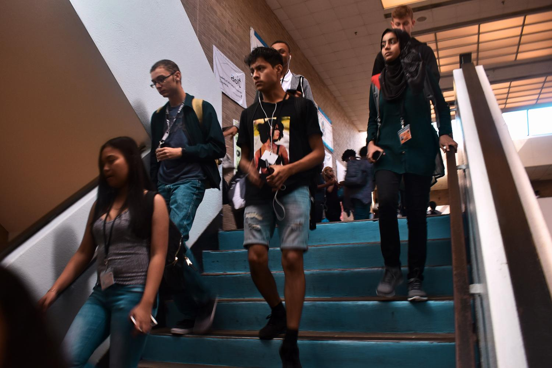 Crowded ERHS hallway