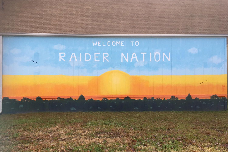 The Raider Nation Mural.
