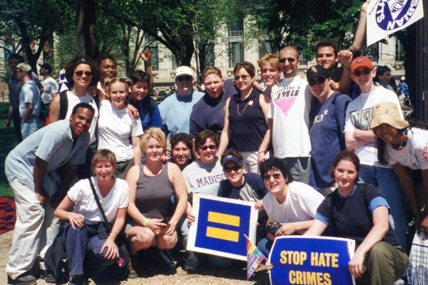 Students attend the Millennium March for Equality in April of 2000 (Photo courtesy of Michael Key)