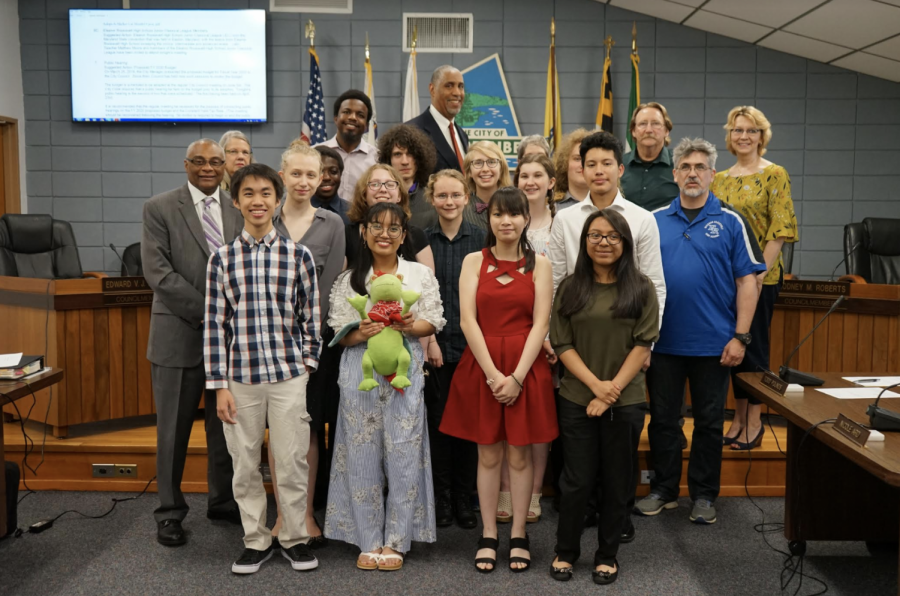 Greenbelt City Council honors ERHS Latin Students