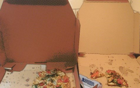 A pizza box.
