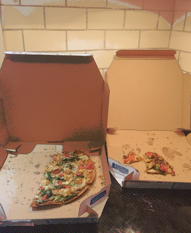 A pizza box.