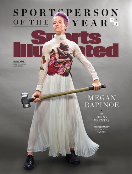 Megan Rapinoe named 2019 Sportsperson of the Year. Photo Credit to Sports Illustrated Magazine