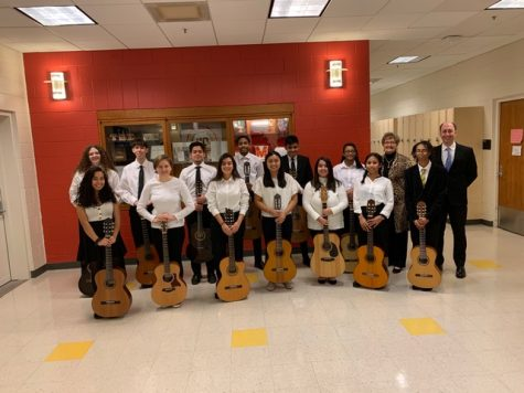 The first honor guitar ensemble in the state of Maryland.
