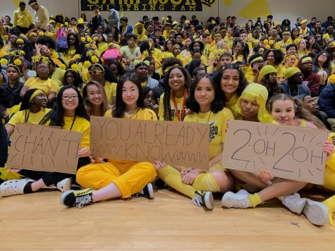 The Class of 2020 at Pep Rally.