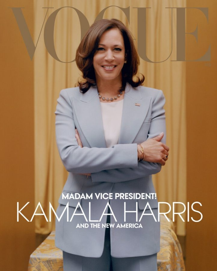 Vice President Kamala Harris on the Cover of Vogue. Photo by Tyler Mitchell/Vogue, courtesy of the New York Times